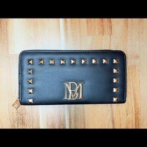 Badgley Mischka Large zip around Studded Wallet
